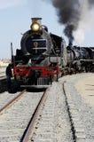 De trein van de stoom in Swakopmund, Namibië Stock Foto's