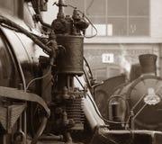 De trein van de stoom toont Royalty-vrije Stock Afbeeldingen