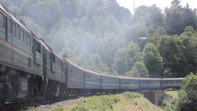 De trein van de stormlopenpassagier stock footage