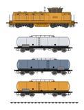 De trein van de tank Royalty-vrije Stock Foto's