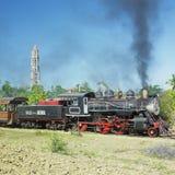 De trein van de toerist, Manaca Iznaga, Cuba stock foto