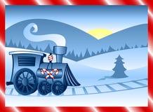 De Trein van de winter Royalty-vrije Stock Foto's