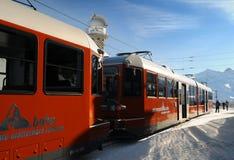 De trein van Gornergrat stock foto's