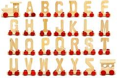 De trein van het alfabet Stock Foto's