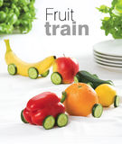 De trein van het fruit Stock Afbeelding