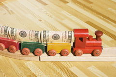 De trein van het Geld Royalty-vrije Stock Afbeelding