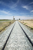 De trein van het spoor Stock Fotografie