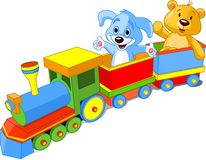 De trein van het stuk speelgoed Stock Foto