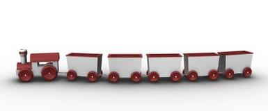 De trein van het stuk speelgoed met 5 vervoer royalty-vrije illustratie