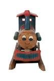 De trein van het stuk speelgoed op spoor Stock Afbeelding