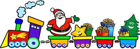 De trein van Kerstmis Royalty-vrije Stock Afbeelding