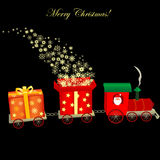 De trein van Kerstmis Stock Afbeelding