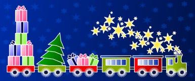 De trein van Kerstmis Stock Foto