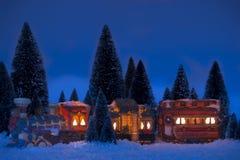 De Trein van Kerstmis Royalty-vrije Stock Afbeeldingen