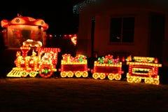 De trein van Kerstmis Stock Foto's