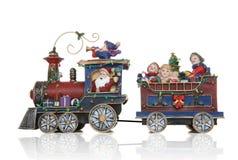 De Trein van Kerstmis van de kerstman Stock Afbeeldingen