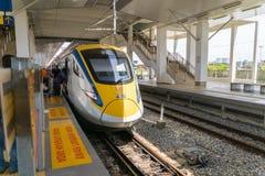 De Trein van KTM ETS in Penang, Maleisië royalty-vrije stock foto's
