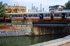 De trein van Lankan van Sri Stock Afbeelding