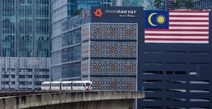 De trein van Maleisië LRT Stock Foto