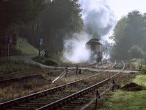 De trein van de museumstoom van ZLSM-looppas regelmatig in Zuid-Limburg stock afbeeldingen