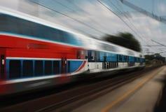 De trein van de passagier Stock Foto