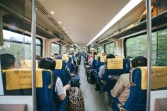 De Trein van Peking Airport Express royalty-vrije stock foto's