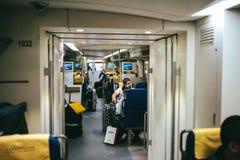 De Trein van Peking Airport Express stock afbeelding