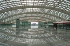 De Trein van Peking Airport Express stock afbeeldingen