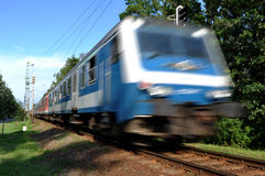 De trein verlaat de post Royalty-vrije Stock Foto's
