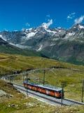 De trein Zwitserland van Gornergrat Stock Fotografie