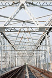 De treinbrug van het staal Stock Foto