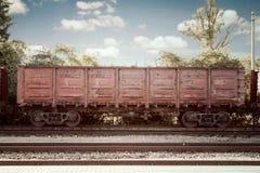 De treincontainer van de metaallading Royalty-vrije Stock Foto's