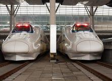 De treinen van de hoge snelheid Stock Fotografie