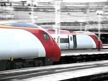 De treinen van de hoge snelheid royalty-vrije stock afbeeldingen