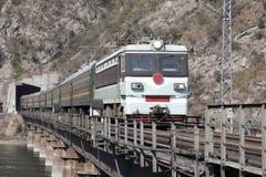 De treinen van de passagier Stock Foto's