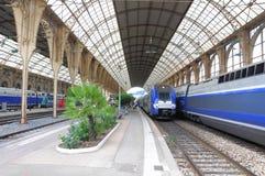 De treinen van de passagierssnelheid. Stock Afbeeldingen