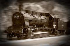 De treinen van de stoom Stock Foto's