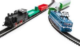 De treinen van het stuk speelgoed stock afbeeldingen