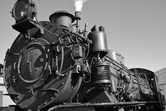 De treinlocomotief van de stoom   Stock Afbeelding