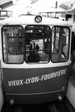 De treinpendel van Lyon - Fourvière-(vieux-Lyon) Stock Foto's