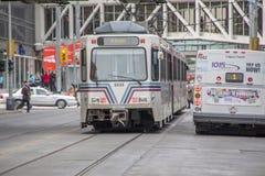 De treinsysteem van C van Calgary Stock Foto's