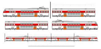 De treinuitrusting van het stadsvervoer stock illustratie