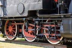 De treinwiel van de stoom royalty-vrije stock foto's