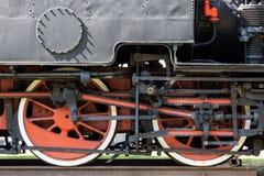 De treinwiel van de stoom royalty-vrije stock afbeelding