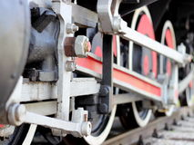De treinwielen van de stoom Royalty-vrije Stock Afbeelding