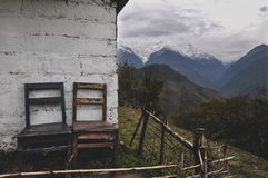 De trekking van de Annapurnakring stock fotografie