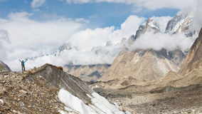De Trekking van de Baltorogletsjer Stock Afbeeldingen