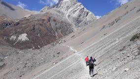 De Trekking van het Tilichomeer, Nepal royalty-vrije stock foto