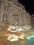 De Trevi Fontein bij nacht Royalty-vrije Stock Afbeelding