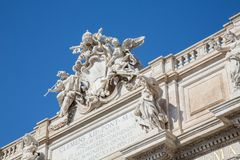 de Trevi fontein royalty-vrije stock foto's